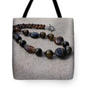 3595 Tigereye And Bali Sterling Silver Necklace Tote Bag