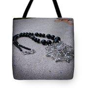 3596 Spiderweb Rhinestone Pendant Necklace Tote Bag