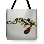 3618 Tigereye And Citrine Necklace Tote Bag
