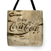 Coca Cola Sign Grungy Retro Style Tote Bag