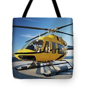 A Bell 407 Utility Helicopter Tote Bag