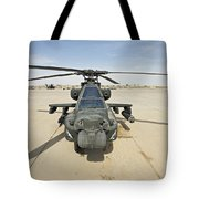 An Ah-64d Apache Helicopter At Cob Tote Bag