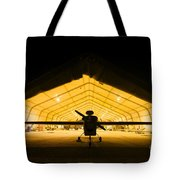 An Rq-5 Hunter Unmanned Aerial Vehicle Tote Bag