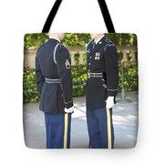 Changing Of Guard At Arlington National Tote Bag