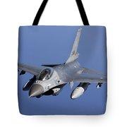 Dutch F-16am During A Combat Air Patrol Tote Bag