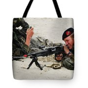 Dutch Royal Marines Taking Part Tote Bag by Luc De Jaeger
