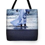 Girl At The Sea Tote Bag