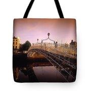 Hapenny Bridge, River Liffey, Dublin Tote Bag