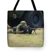 Infantry Soldiers Of The Belgian Army Tote Bag