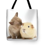 Kitten And Guinea Pig Tote Bag