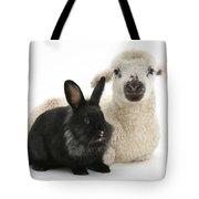 Lamb And Rabbit Tote Bag
