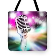 Microphone On Stage Tote Bag by Setsiri Silapasuwanchai