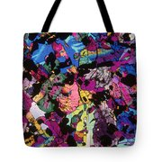 Moon Rock, Transmitted Light Micrograph Tote Bag by Michael W. Davidson - FSU