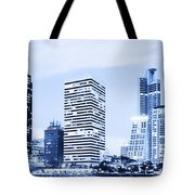Night Scenes Of City Tote Bag