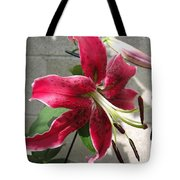 Orienpet Lily Named Scarlet Delight Tote Bag