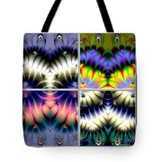 4 Panel Look Hearts Ud Fractal 64 Tote Bag