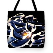4 Playing With Paint Colours Tote Bag