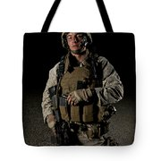 Portrait Of A U.s. Marine Tote Bag