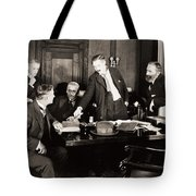 Silent Still: Board Meeting Tote Bag