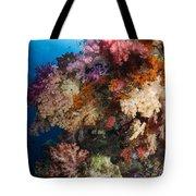 Soft Coral In Raja Ampat, Indonesia Tote Bag