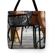 Stripped Dress Tote Bag