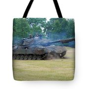 The Leopard 1a5 Main Battle Tank Tote Bag by Luc De Jaeger