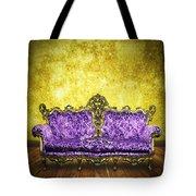 Victorian Sofa In Retro Room Tote Bag