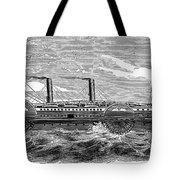 4 Wheel Steamship, 1867 Tote Bag