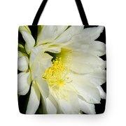 White Cactus Flower Tote Bag