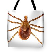 Yellow Dog Tick Tote Bag
