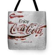 Coca Cola Sign Grungy Retro Style Tote Bag