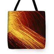 A Fiery New Cone On Mount Etna Upstages Tote Bag