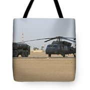 A Uh-60 Black Hawk Helicopter Tote Bag
