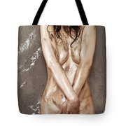 Beautiful Soiled Naked Woman's Body Tote Bag