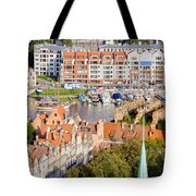 City Of Gdansk In Poland Tote Bag