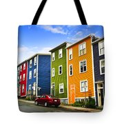 Colorful Houses In St. John's Newfoundland Tote Bag