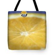 Drip Over An Orange Tote Bag
