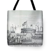 Fulton Steam Frigate, 1814 Tote Bag