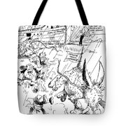League Of Nations Cartoon Tote Bag by Granger