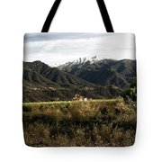 Ojai Valley With Snow Tote Bag