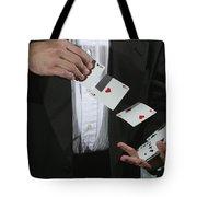 Shuffling Cards Tote Bag