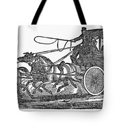 Stagecoach, 19th Century Tote Bag