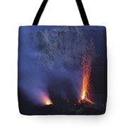 Stromboli Eruption, Aeolian Islands Tote Bag