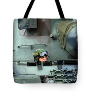 Tank Driver Of A Leopard 1a5 Mbt Tote Bag