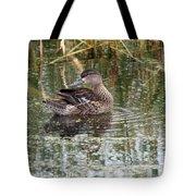 Teal Duck Tote Bag