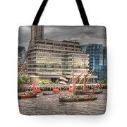 Thames Barges Tower Bridge 2012 Tote Bag