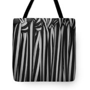 5 Ties In Black And White Tote Bag