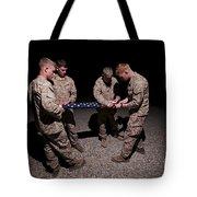 U.s. Marines Fold The American Flag Tote Bag