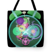 X-ray Of An Alarm Clock Tote Bag
