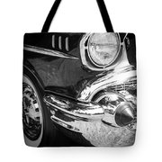 57 Chevy Black Tote Bag by Steve McKinzie